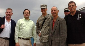 Isaiah Akin, second from left, on mission for Senator Ron Wyden (D-OR)