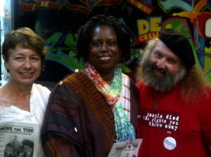 Center:  Cynthia McKinney; R:  Jan B. Tucker
