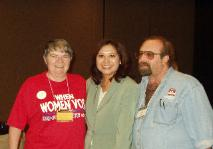 L to R:  Linda Pruett, Hilda Solis, Jan B. Tucker