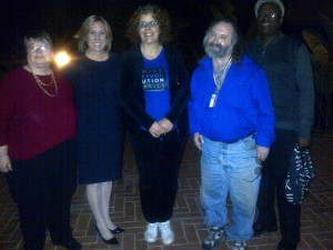 L to R:  Cynthia Conover, Wendy Greuel, Sherry Lear, Jan B. Tucker, Dele Ailemen