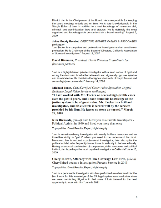 My CV as of 51313 – Private Investigator Resume