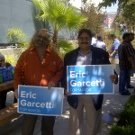Jan B. Tucker & Angel Luevano @ Garcetti Press Conference