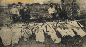 Jewish victims of a Czarist Pogram in Boguslav Ukraine wrapped in their prayer shawls; why my people had to get the hell out of Czarist Russia