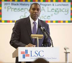 Assistant Attorney General Tony West speaking at the Legal Services Corporation Black History Month event