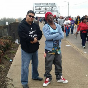 L-Alex Salazar at the Edmund Pettus Bridge, Selma Alabama