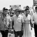 CesarChavez & Maxine Waters at rally to save the GM Van Nuys plant